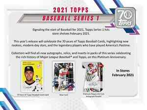 2021 TOPPS SERIES 1 FACTORY SEALED JUMBO BOX PRE SALE RELEASES 2 10 21 $224.99