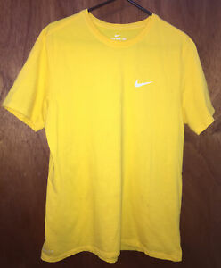 NIKE XL ATHLETIC CUT YELLOW T Shirt Mens $12.00