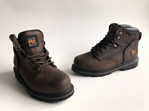 Timberland PRO 33034 Pit Boss Steel Toe Men#x27;s Work Boots Size 8 Brown