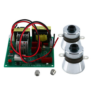 YaeCCC 110V Ultrasonic Cleaner Power Driver Board with 2PCS 50W 40K Transducers $64.02