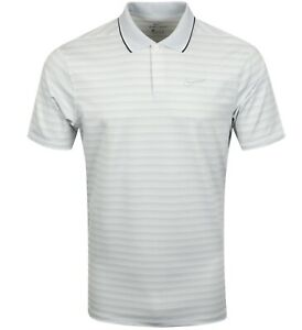 Nike Dry Fit Striped Golf Polo Standard Fit Size M MSRP $75.00 CK4744 043 NWT $29.99