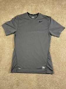 Nike Pro Fitted Dri FIT Training Crew Shirt Mens Small Gray S Nike Fit $11.99