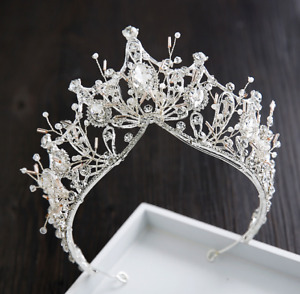 Baroque Pageant Queen Bridal Wedding Prom Tiara Crown Hair Accessories Headband $16.99
