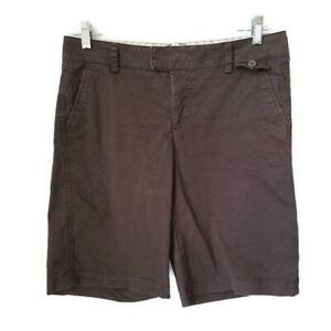 Dockers Womens Shorts Mid Rise Curvy Brown Size 10 Cotton Spandex $11.99