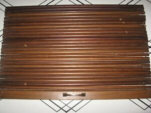 Antique Roll top front for cabinet 26 slats measure 23 1 4quot; 15 1 4quot; tall