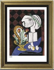 pablo picasso plate signed numbered amp; gold framed limited edition with COA $175.00