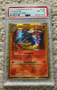 2012 Pokémon Black amp; White Plasma Storm Charizard #136 PSA 8 NM MT $789.95