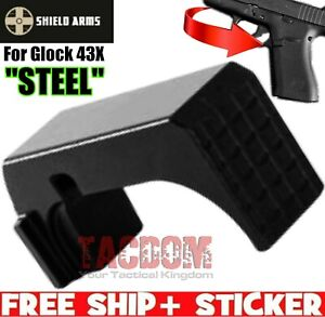 SHIELD ARMS for Glok 43X 48 STEEL Magazine Release use w Steel S15 Mag GEN1 amp; 2