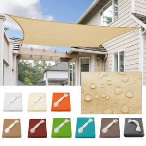 UV Block Square Sun Sand Shade Sail Canopy Patio Deck Yard Outdoor Patio Cover $37.99
