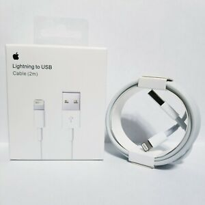 Genuine OEM Original Apple iPhone Lightning Cable Charger Cord USB 2M 6FT New $8.49