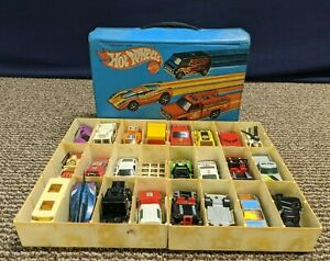 Hot Wheels 24 Car Collectors Carrying Case Toy Tray Lot 1975 8227 Vintage Holder $41.44
