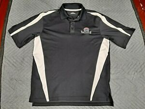US Legend Cars Charlotte Motor Speedway Under Armor Polo Shirt Black Mens NICE $11.99