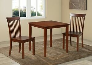 Kings Brand Furniture 3 Piece Kitchen Dining Set Table 2 Chairs Cappuccino