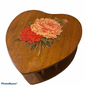 Vintage Wooden Heart Sewing Box $36.00