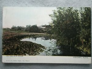 Antique On The Bow River Calgary Alberta Canada Photo Postcard $3.90