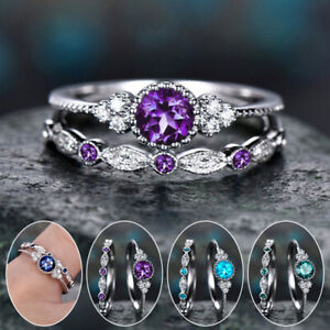 Women Engagement Rings Band Ring Rhinestone Finger Ring Party Jewelry Wedding $0.99
