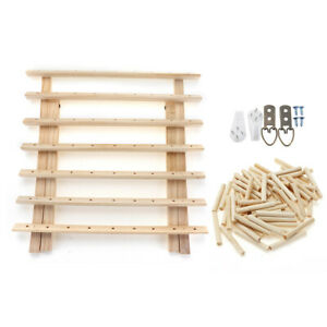 39x18x37cm 63Pcs Smaller Spool Wooden Folding Sewing Rack Free standing Box $27.94