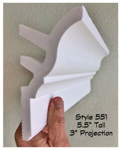 Foam crown molding for indirect LED lighting 40 ft W Precuts corner 6 Styles $115.50