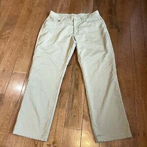 Mens Under Armour Golf Pants Tan Loose Polyester Stretch Sz 36x30 $24.99