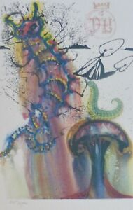 SALVADOR DALI ALICE IN WONDERLAND Advice from a Caterpillar SIGNED HAND NUMBERED $349.00