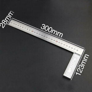 Steel L Square Angle Ruler 90 Degree Woodworking Carpenter Measuring Tools C $14.05