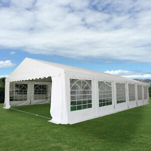 White 20X40 Wedding Tent Shelter Heavy Duty Outdoor Party Canopy Carport White