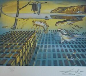 SALVADOR DALI The Disintegration of the... HAND NUMBERED PLATE SIGNED LITHOGRAPH $245.00