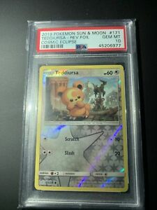 Teddiursa cosmic eclipse reverse foil pokemon cards PSA 10 $65.00