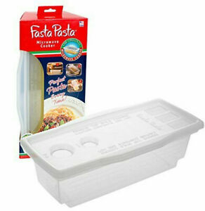Clear Microwave Pasta Cooker The Original No Mess Sticking or Waiting For Boil