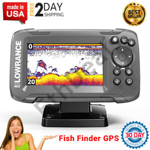 Fish Finder GPS Sonar Bass Boat Depth Finder Radar Transducer Plotter 2 in 1 NEW $175.84
