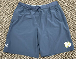 USED TEAM ISSUED NOTRE DAME FOOTBALL LOOSE UNDER ARMOUR SHORTS XL $59.95