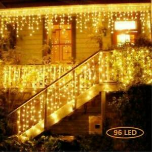 Christmas LED Fairy String Light Icicle Curtain Outdoor Indoor Lamp Connectable $14.99