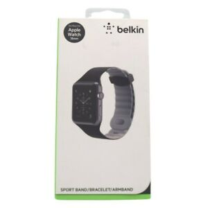 Belkin Apple Watch Sport Silicone Band Strap Black and Grey 38mm Brand New $9.99