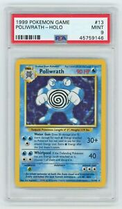 Pokemon Cards PSA 9 Poliwrath 13 102 Base Set MINT PSA9 GBP 229.99