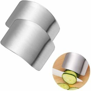 NEW 2 PCs Finger Guard For Cutting Kitchen Tool Finger Guard Stainless Steel $10.29
