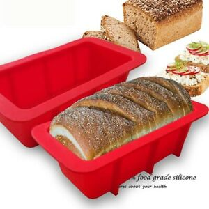 Bread Mold Food Silicone Rectangle Loaf Pan Cake Nonstick Home Made Baking