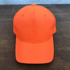 YOUTH Hunting Fluorescent Orange Polyester Snapback Trucker Cap Hat CH45