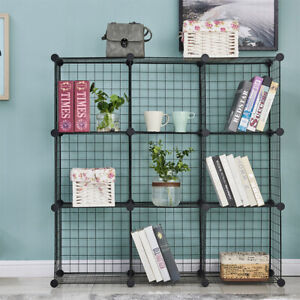 9 Storage Wire Shelves Closet Organizer DIY Storage Grids Black Furniture New US $39.99