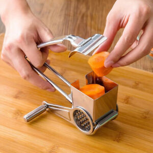 3pcs Stainless Steel Cheese Grater Set Hand Held Rotary Cheese Shredder Cutter $16.24