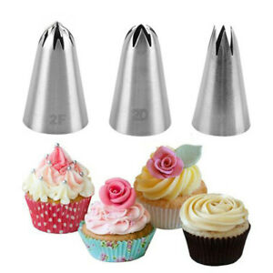 Size Cream Cake Icing Piping Russian Nozzles Pastry Tips Stainless Steel Fondant $2.29