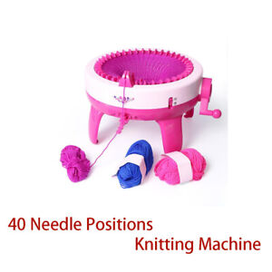 Knit Machine 40 Needle Positions Weaving Loom Hat Hand Learning Toy Child Kids