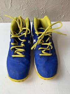 Under Armour Shoes Kids 3Y Blue Yellow High tops 1296010 400 $19.95