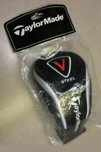 TAYLORMADE V STEEL FAIRWAY WOOD HEADCOVER Black Gray Cover 2 3 4 5 7 9 tag NEW $17.95