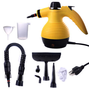 1050w Handheld Multi Purpose Steam Cleaner with 9 Piece Accessories Household