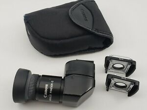 Canon Angle Finder C with Ec C amp; Ed C Adapters Case $75.00