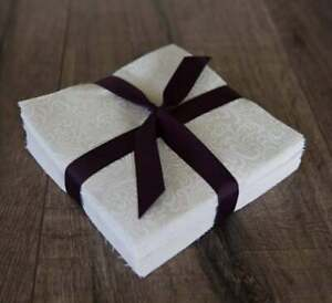 102 White On Natural pre cut charm pack 5quot; squares 100% cotton fabric quilt $13.50