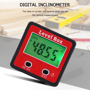 Magnetic Digital Protractor Angle Finder Bevel Level Box Inclinometer Meter D9V6 $13.99