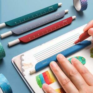 5pcs 3 in 1 Multifunction Retro Color Gel Pen Creative Ruler Cartoon Bookmark $6.20