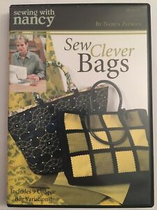Sewing With Nancy DVD Sew Clever Bags Includes 9 unique bag variations $18.97