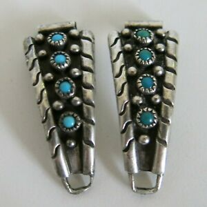Sterling Ladies Snake Eye Turquoise Watch Tips Southwest Design 8mm 10.6g 6285